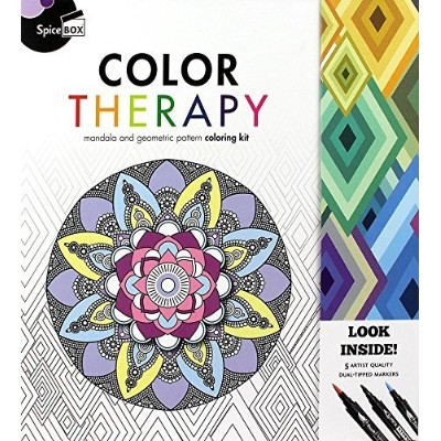 Spice Box Color Therapy-50 Anti-Stress Coloring Pages by Spice Box