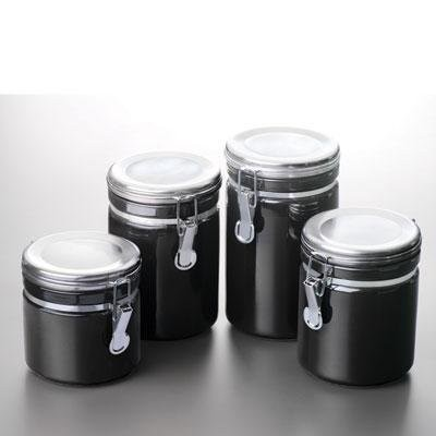 Anchor Hocking Ceramic Canister Set 03923MR by Anchor Hocking [並行輸入品]
