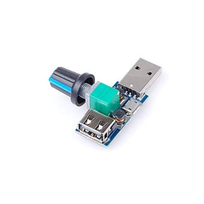 UIOTEC DC 5V USB Fan stepless Speed Controller Regulator with Switch Speed Module Input DC 4-12V to...