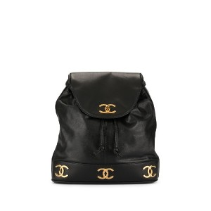 Chanel Pre-Owned チェーン バックパック - ブラック