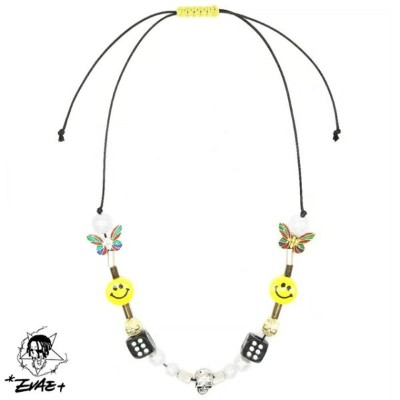 Evae mob エバーモブ SALUTE サルーテ NECKLACE スマイリーネックレス *EVAE+ Smiley Necklace ACCESSORY 小物 アクセサリー 正規品 カジュアル...
