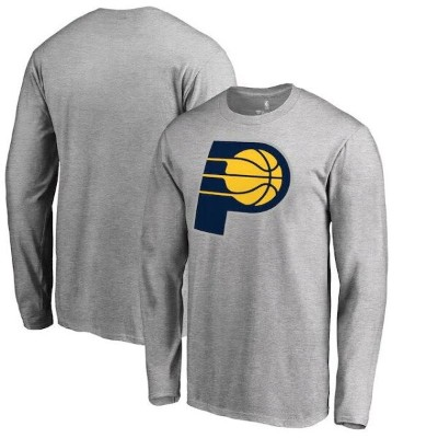 Fanatics Branded Indiana Pacers Heather Gray Primary Logo Long Sleeve T-Shirt メンズ
