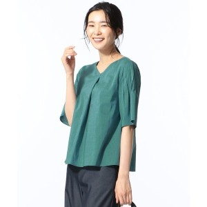 J.PRESS LADIES L 【洗える】FITTY FLAX POPLIN ブラウス