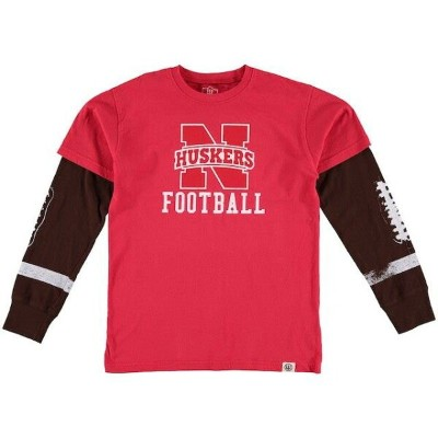 Wes & Willy Nebraska Cornhuskers Youth Scarlet Football Fooler Long Sleeve T-Shirt キッズ