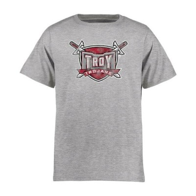Troy University Trojans Youth Ash Classic Primary T-Shirt キッズ