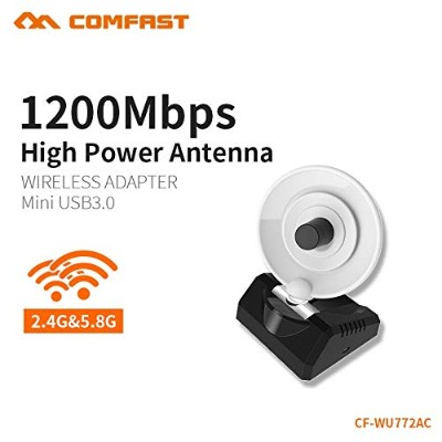 COMFAST High Gain Wifi Adapter 5.8G 1200mbps Dual Band PC Receiver 10dBi Wi-fi USB 3.0 Antenna...