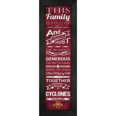 Iowa State Cyclones Family Cheer Framed Print ユニセックス