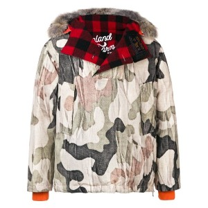 Woolrich Woolrich x Griffin ダウンパーカー - ニュートラル