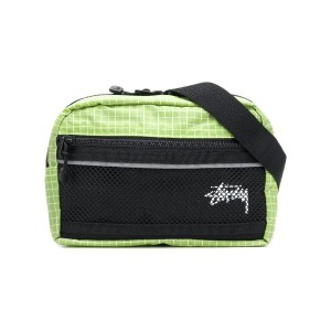 Stussy two-tone belt bag - グリーン