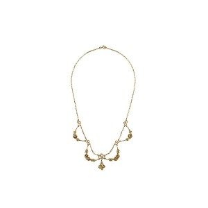 Katheleys Pre-Owned Art Nouveau ネックレス - Gold/Pearl