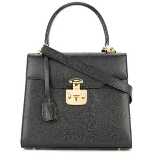 Gucci Pre-Owned Lady Lock ハンドバッグ - ブラック