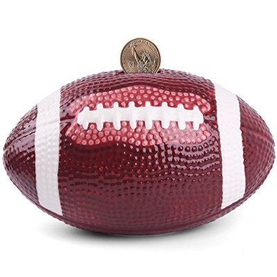(Rugby) - Piggy Bank Ceramic Football Coin Bank-(4 designs for choice Golf/ Basketball/Soccer...