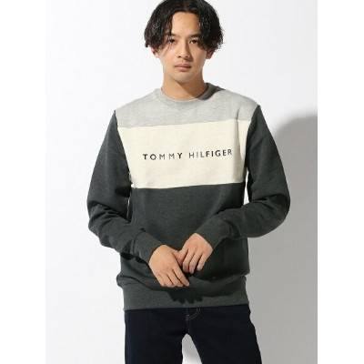 (M)TOMMY HILFIGER(トミーヒルフィガー) カラーブロック スウェット トミーヒルフィガー カットソー【送料無料】