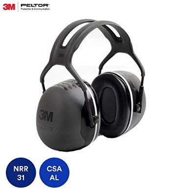 3M Peltor ぺルター イヤーマフ X-Series Over-the-Head Earmuffs, NRR 31 dB, One Size Fits Most, Black X5A ...