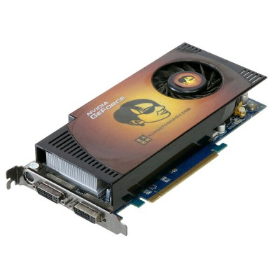 玄人志向 GeForce 9800GT 512MB DVIx2(DualLinkDVI)/TV-OUT(HDTV) PCI-Express2.0 x16 GF9800GT-E512HW【中古】...