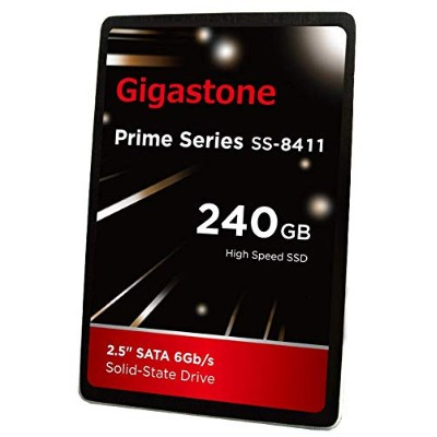 """Gigastone 240GB SSD 2.5"""" SATA 3 Solid State Drive [Performance HD Upgrade for HP Dell Samsung Sony..."""