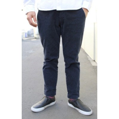 CONTRIVANCE(コントライバンス)STRETCH CORDUROY ANKLE TROUSERS IN PAISLEY(アンクル丈 ストレッチコーデュロイ トラウザース ペイズリー柄)...