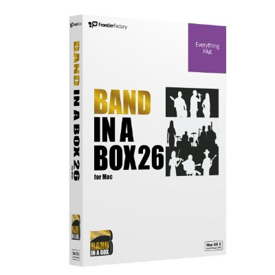フロンティアファクトリー Band-in-a-Box 26 for Mac EverythingPAK BANDINABOX26EVERYMHDD [BANDINABOX26EVERYMHDD]