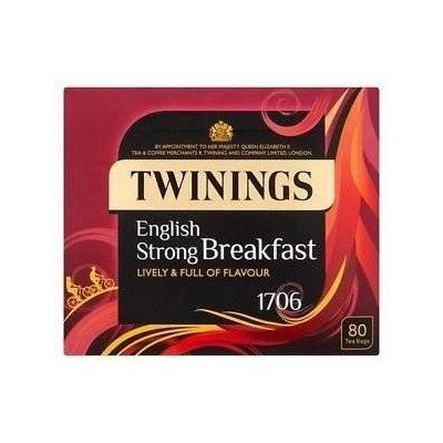 TWININGS STRONG BREAKFAST 80TEABAGS トワイニング ストロングブレックファースト紅茶 250g 80ティーバッグ 【英国直送品】