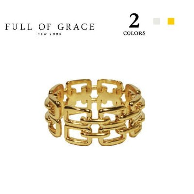 ≪FULL OF GRACE≫ フルオブグレイス 全2色 モダンコレクション ダブルチェーン リング Modern collection Double chain Ring (Gold/Silver...