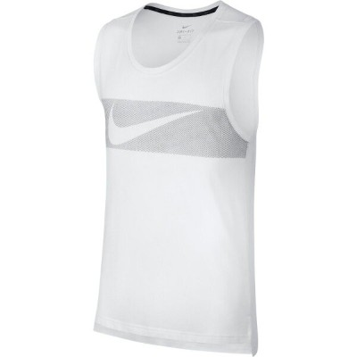 ナイキ Nike メンズ タンクトップ トップス【breathe hyper dry graphic tank top】White/Black