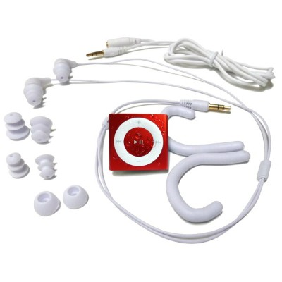 水泳用iPod Shuffle 防水仕様 Underwater Audio Waterproof iPod Mega Bundle  (RED)