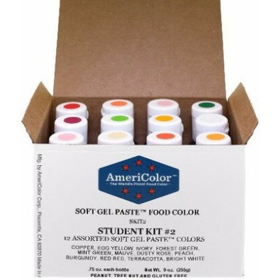 アメリカラー 12色セット Studentカラー# 2【21g】Americolor Soft Gel Paste Student Color Kit 12 pc.
