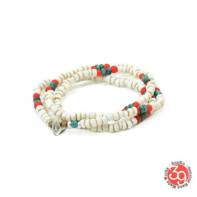 Sunku 39 サンク SK-148 Antique Beads Mix 3 Roll Necklace & Bracelet アンティーク ビーズ ブレスレット ネックレス