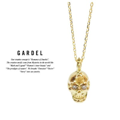 GARDEL ガーデル gdp072skull TINY DIAMOND NecklaceSKULL スカル