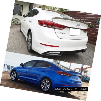 エアロパーツ Painted 2018 For Hyundai Elantra AD Avante LE GLS Sedan OE Type Trunk Spoiler Hyundai...
