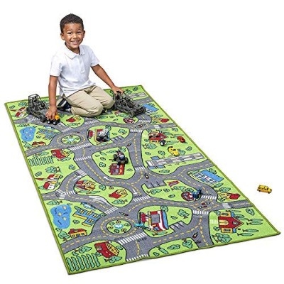 Kids Carpet Playmat City Life Extra Large - Learn & Have Fun Safe, Children's Educational, Road...