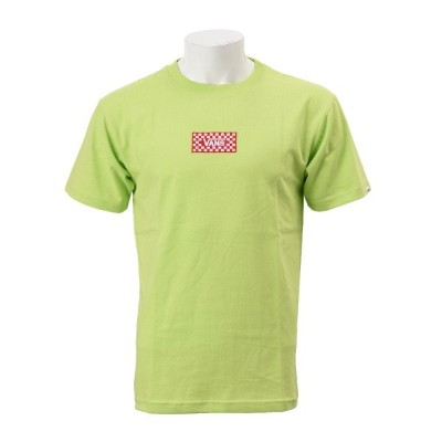 【VANSアパレル】 ヴァンズ Tシャツ Checher 3D Embroidery S/S Tee CD18SS-MT12 GREEN