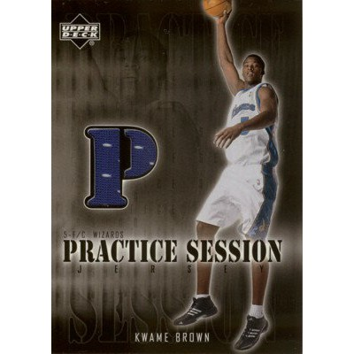 【クワミ ブラウン】2002/03 Upper Deck Practice Session Jersey /Kwame Brown
