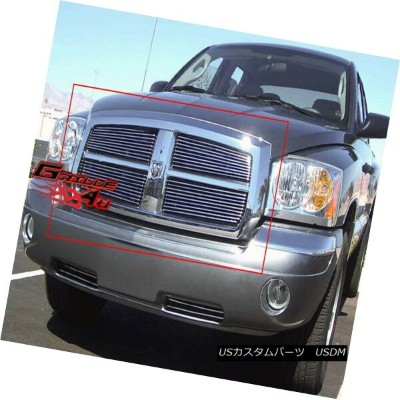 グリル Fits 2005-2007 Dodge Dakota Main Upper Billet Grille Insert 2005-2007 Dodge Dakotaメインアッパービレットグリル...