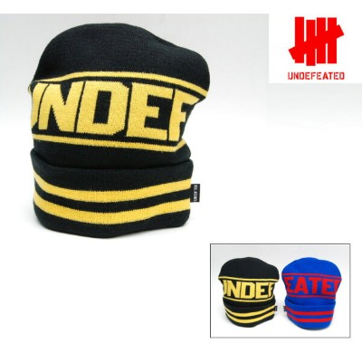 UNDEFEATED STRIPE BEANIE (2色展開) アンディフィーテッド キャップ ニットキャップ ビーニー