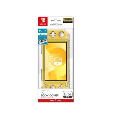 【Switch Lite】PC BODY COVER for Nintendo Switch Lite クリア キーズファクトリー [HPC-001-1]