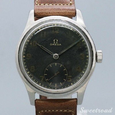【OMEGA/オメガ】BLACK DIAL/SMALL CECOND/Ref.2383-4/30MM CALIBER/Cal.30T2PC/1944年製/w-20647