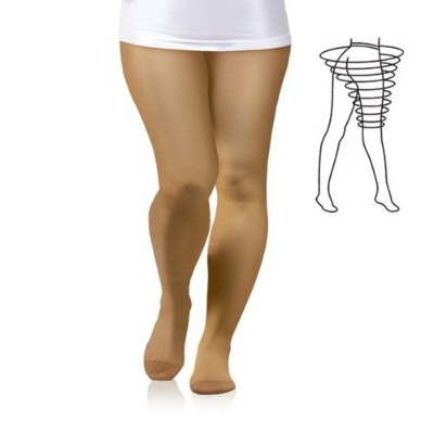 PLUS SIZE 23-32 mmHg MEDICAL GRADE Compression Pantyhose, CCL2 Support Tights with Closed Toe Class...