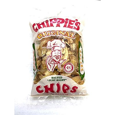 Chippies Banana Chips (1.25 ozs. x 24 Packs) Not Sweetened but Salted 'Just Right'