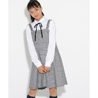 【PINK-latte(ピンク ラテ)】 【卒服】ワンピース+ブラウス セット OUTLET > PINK-latte > トップス > トップス+インナーセット グレー