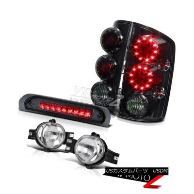 ヘッドライト Dodge RAM 2002-2006 Truck Smoke LED Taillight+3rd Brake+Factory Style Fog Lamps ドッジRAM 2002...