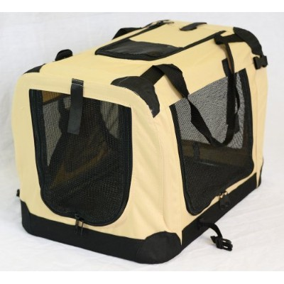 Portable Soft Pet Crate or Kennel for Dog, Cat, or other small pets. Great for Indoor and Outdoor ...