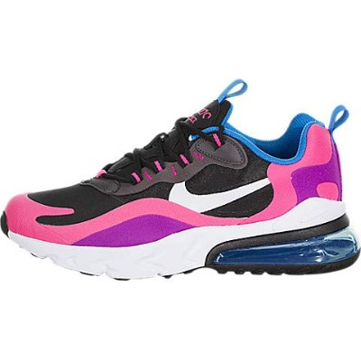 Nike Air Max 270 React GS [BQ0101-001] Kids Casual Shoes Black/Pink/US 5.5Y