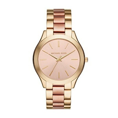 マイケルコース Michael Kors レディース 腕時計 時計 Michael Kors MK3493 Ladies Slim Runway Gold and Rose Bracelet...