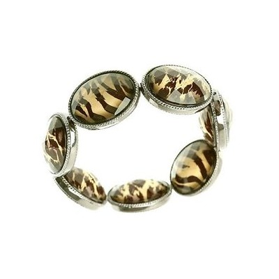 【送料無料】ネコ 猫 ネックレス チータステートメントleopard cheetah tiger wild cat print oval reversible statement catwalk...