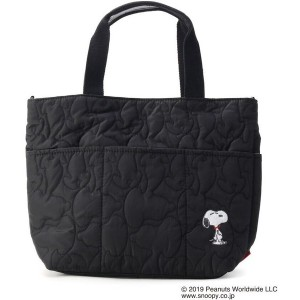 【ITS' DEMO(イッツデモ)】 ROOTOTE PEANUTSキルトトート OUTLET > ITS' DEMO > バッグ・財布・小物入れ > トートバッグ ブラック