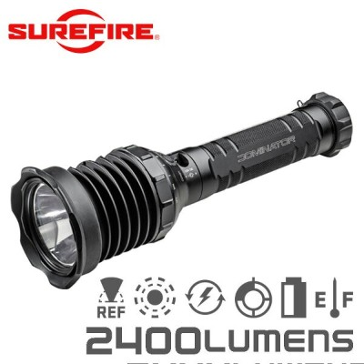 SUREFIRE シュアファイア UDR DOMINATOR Rechargeable Ultra-High Variable-Output LED フラッシュライト / 2400ルーメン...