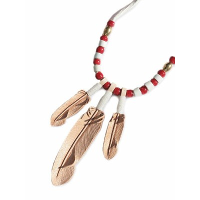ROOSTERKING & CO.(ルースターキング&カンパニー)Natural Leather Feather Necklace / ナチュラルレザーフェザーネックレス ペンダント ヴィンテージ...