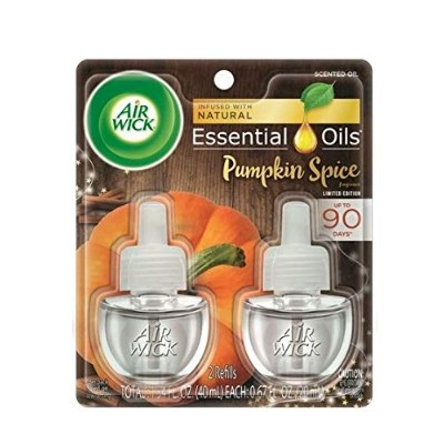 【Air Wick/エアーウィック】 プラグインオイル詰替えリフィル(2個入り) パンプキンスパイス Air Wick Scented Oil Twin Refill Pumpkin Spice ...