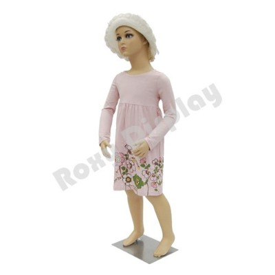 ROXY DISPLAYテつョ Plastic Child Kid Mannequin. 3-5 Years Old Standing Pose Turnable Arms with One...